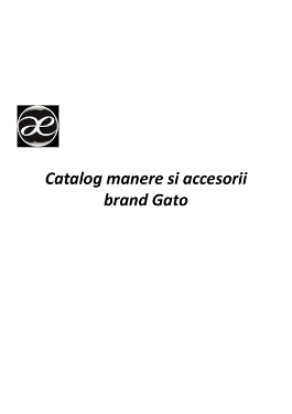 Catalog mânere de uși Gato